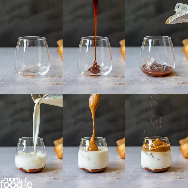 Assembling Caramel Pumpkin Dalgona