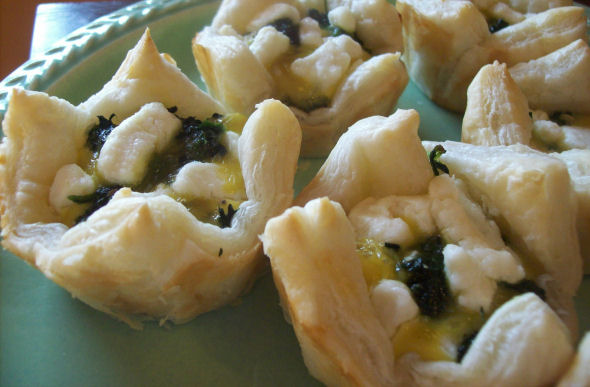 Spinach & Goat Cheese Pastries: Recipe