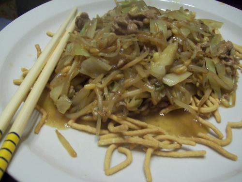 pork chow mein recipe