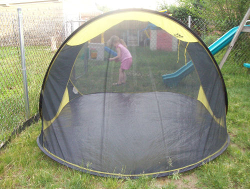 Sansbug III Mosquito tent side view & Sansbug Pop-up Bug Tent Review
