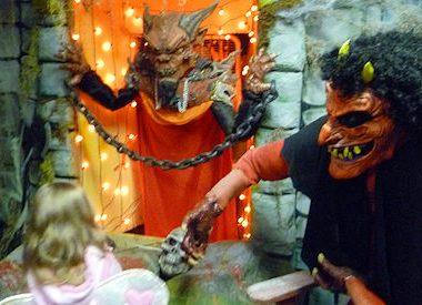 M defies the halloween devil