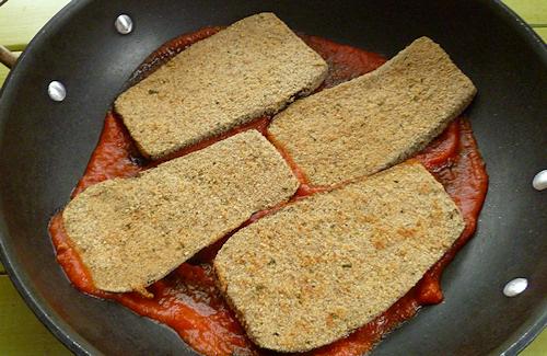 baked italian eggplant bottom layer
