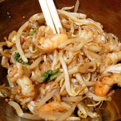 """Under 150 Calories!  Shrimp and """"Noodles"""""""