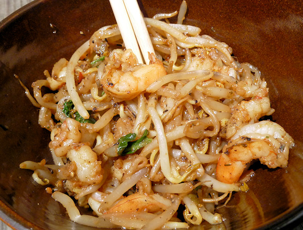 shrimp and bean sprouts