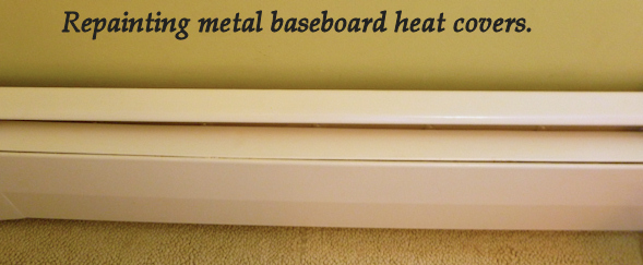 repainting metal baseboard heat covers