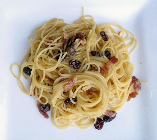 Bacon and Raisin Cappellini