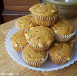 Pumpkin and white chocolate muffins
