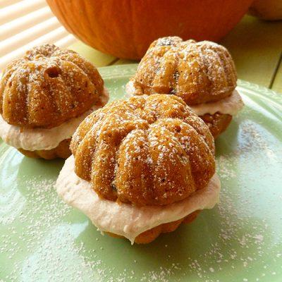Pumpkin Apple Raisin Bran Muffins with Cinnamon Buttercream