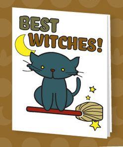 free halloween printable card