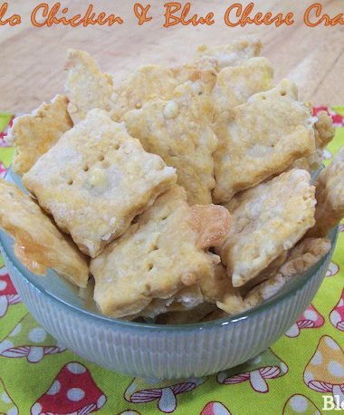 buffalo chicken blue cheese crackers