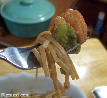 linguini shrimp brussel sprout in walnut cream sauce recipe