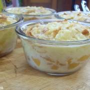 peaches and cream croissant bread pudding recipe