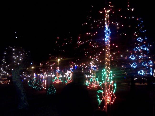 lights at La Salette