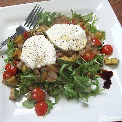 Warm Italian Vegetable Salad with Fresh Mozzarella: Light Recipe