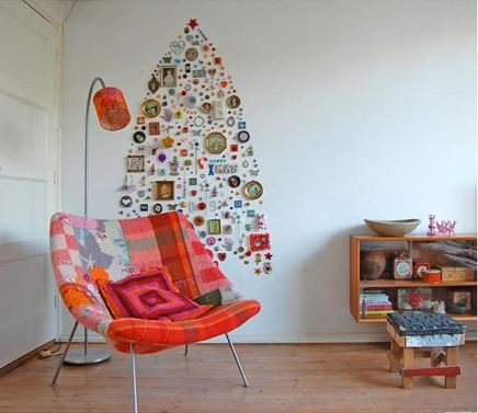 wall holiday tree