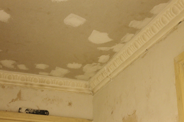 drywall over tin ceiling