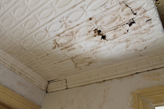 corroded tin ceiling