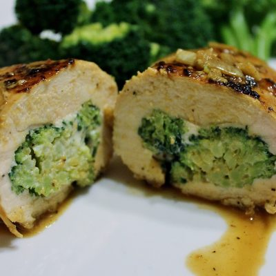 Light Recipe:  Easy Cheesy Broccoli Stuffed Chicken