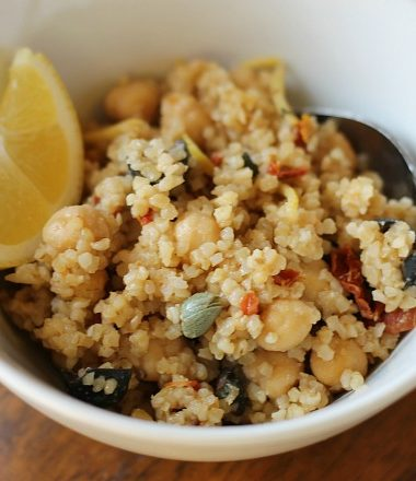 cracked wheat garbanzo bean salad