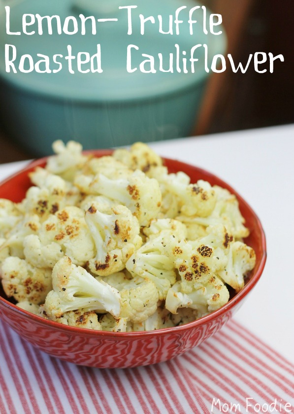 lemon truffle roasted cauliflower