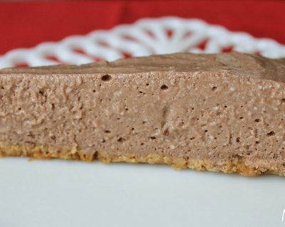 low fat cheesecake - chocolate pie