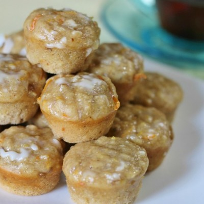 Orange-Walnut Oatmeal Mini Muffins
