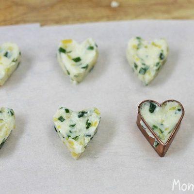 heart shaped butter pats