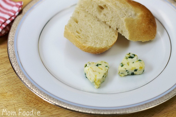 honey lemon chive butter with fresh bread