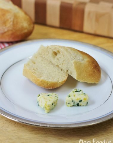 sweet lemon chive compound butter