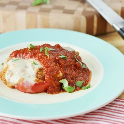 tomato basil quinoa stuffed peppers