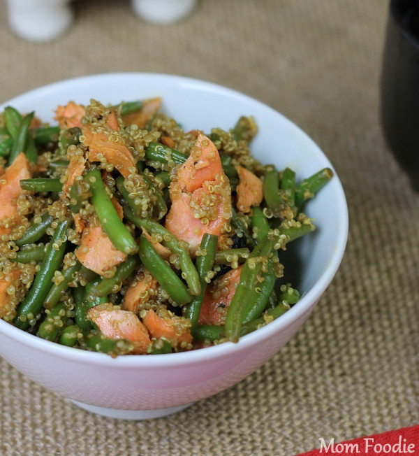 Asian Salmon Green Bean and Quinoa Salad Recipe