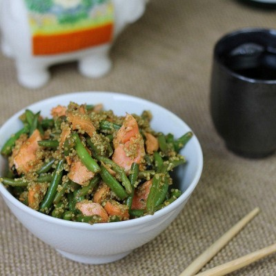 Asian Salmon Green Bean and Quinoa Salad Recipe