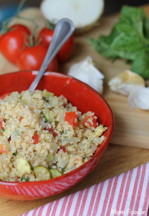 italian wheat bulgur salad