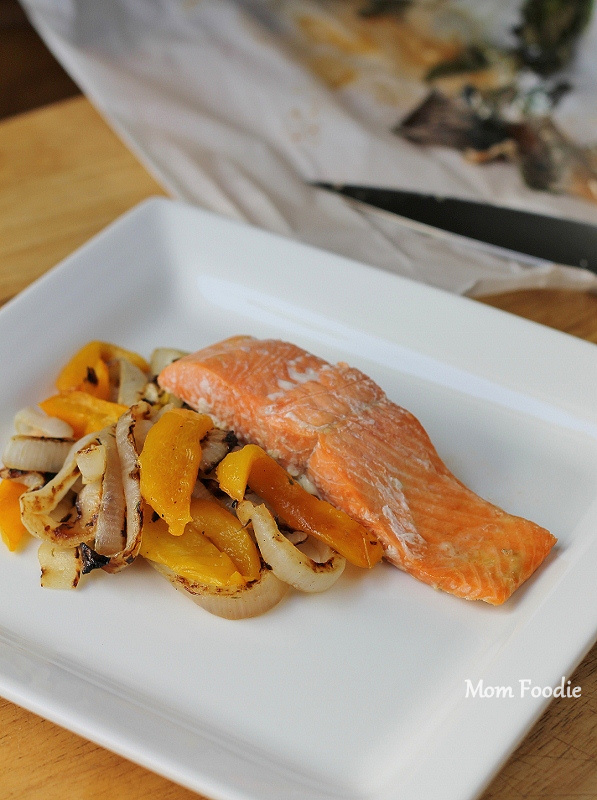 lemon balm salmon in parchment