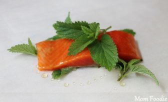 lemon balm salmon in parchment