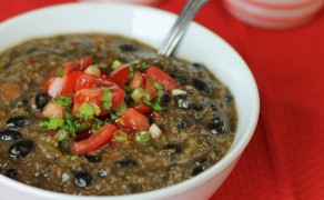 quinoa black bean soup feature
