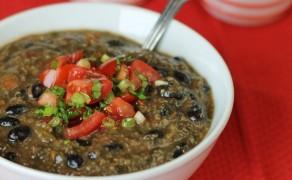 quinoa black bean soup feature