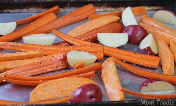 roasting root vegetables