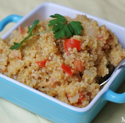 Bacon, Tomato and Onion Bulgur Recipe