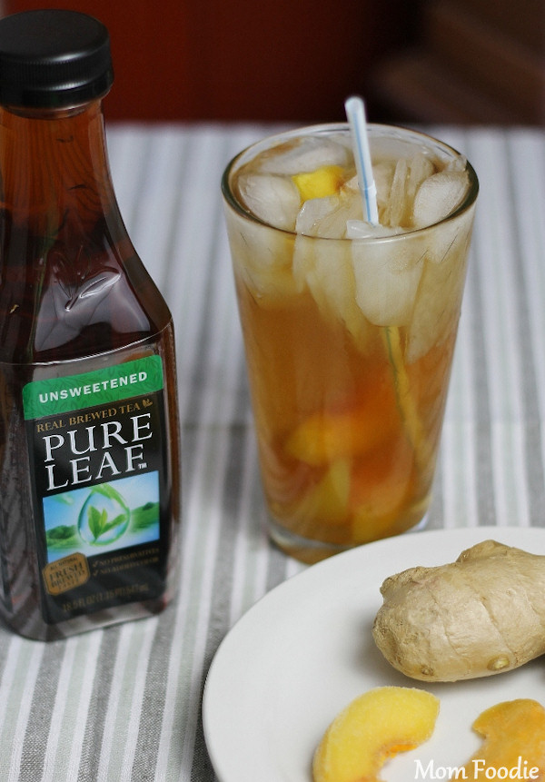 ginger peach ice tea