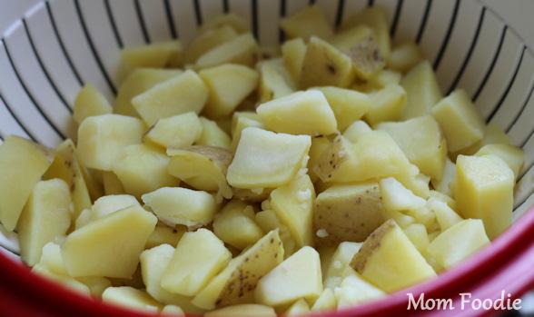 boiled potatoes for buttermilk dill potato salad