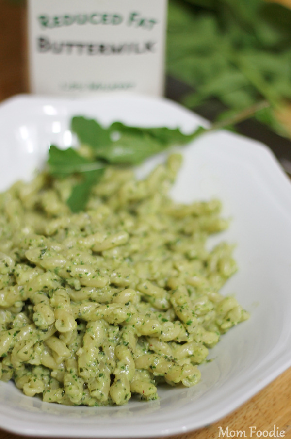 Creamy Light Arugula-Basil Almond Pesto Recipe (Cooking from the ...
