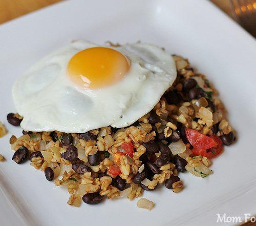 High Protein Lowfat Breakfast Recipe Egg Over Spicy Wheat And
