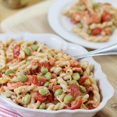 salmon edamame pasta salad recipe