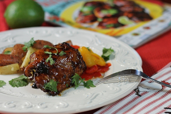 lime glazed chicken thighs