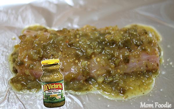 salsa verde on fish