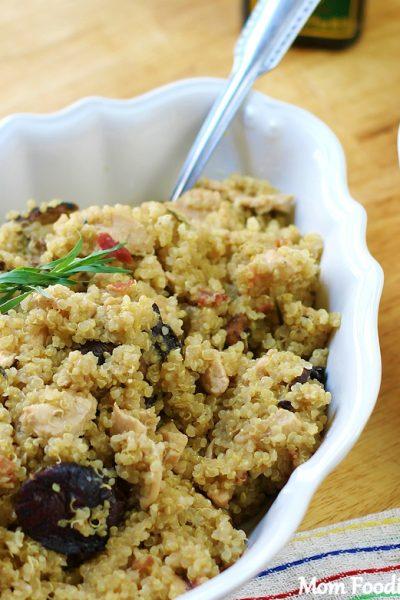 Creamy Chicken Quinoa with Bacon and Mushrooms Recipe