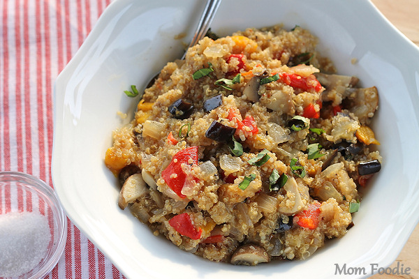 quinoa mushroom eggplant pepper onion