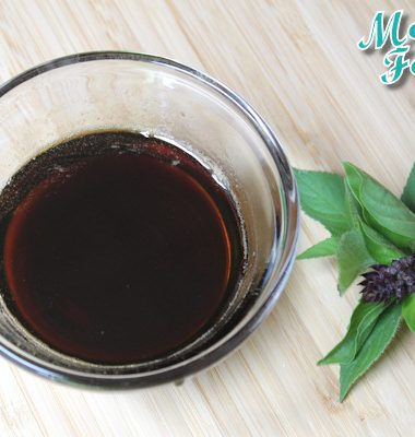 basil simple syrup natural sugar