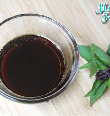 basil simple syrup natural sugar